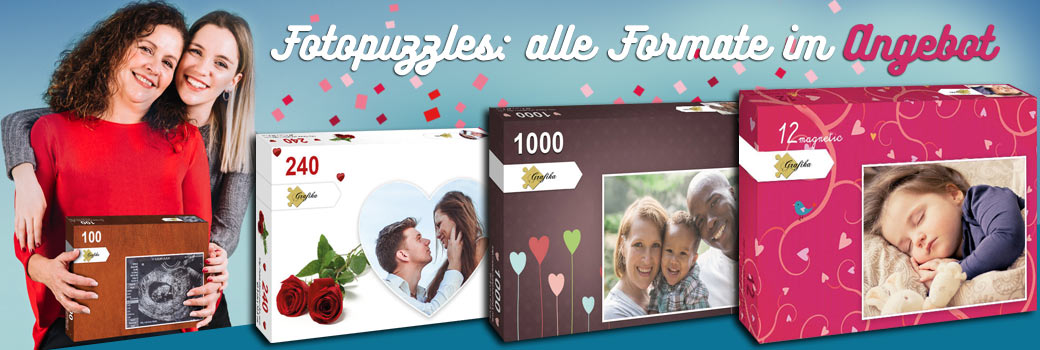 Fotopuzzles: Alle Formate im Angebot